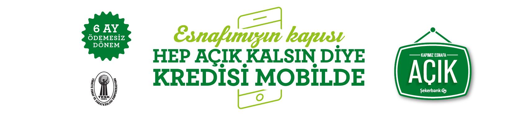 Şekerbank 'Kapımız Esnafa Açık' TESK Destek Paketi