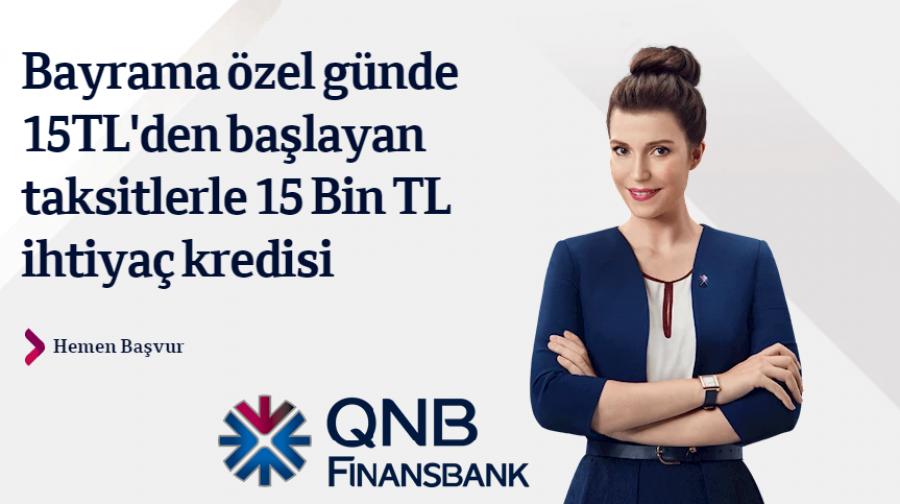QNB Finansbank'tan 3 Ay Ertelemeli Bayram Kredisi  - 2019 Kurban Bayramı Kredisi