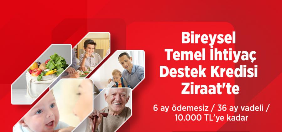 Ziraat Bankası 10 Bin TL Bireysel Temel İhtiyaç Destek Kredisi