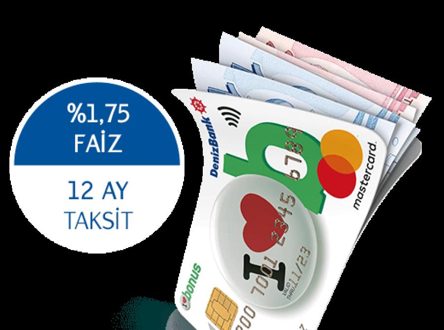 Denizbank %1.75 Faizli Taksitli Nakit Avans.