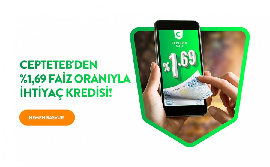 Cepteteb'den %1.69 Faiz Oranıyla İhtiyaç Kredisi
