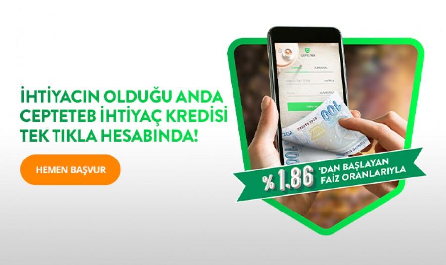 Tahsis Ücretsiz İhtiyaç Kredisi CEPTETEB'de