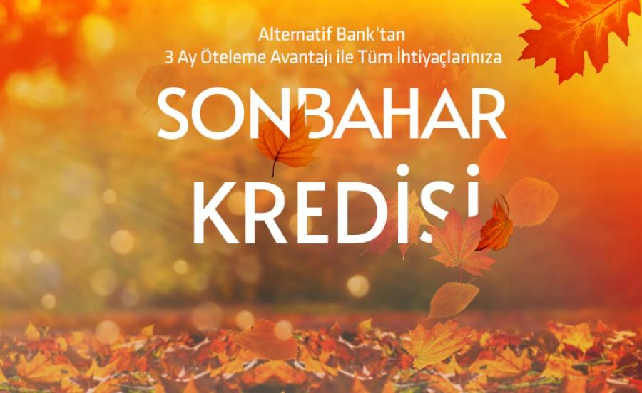Alternatif Bank 3 Ay Ötelemeli 2020 Sonbahar Kredisi