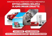 Konuttan Taşıta, Mobilyadan Tatile 4 Yeni Paketle İhtiyaçlarınıza Kolayca Ulaşma İmkanı Ziraat'te