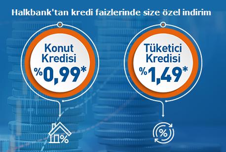 Halkbank'tan Konut ve Tüketici Kredisi faizlerinde indirim!